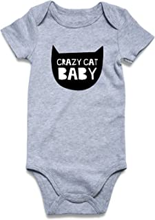 UNICOMIDEA Baby Boys Girls Romper Letter Printed Jumpsuit Short Sleeve Bodysuits Infant Funny Onesie for 0-12 Months