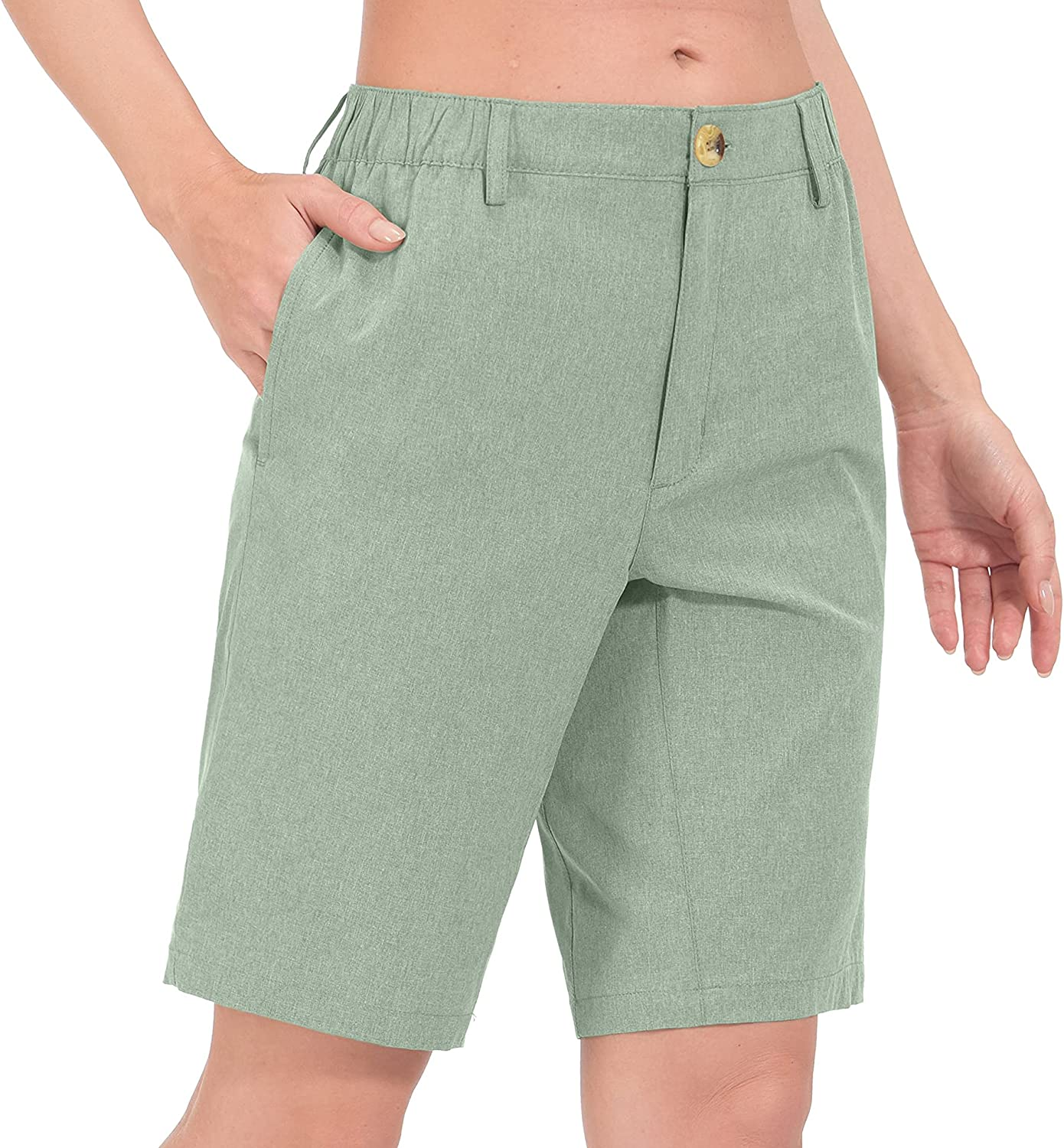 Little Donkey Fees free!! Andy Women's Topics on TV Bermuda Lightweight Stretch Quick Dry