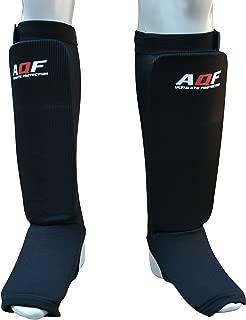 AQF Espinilleras Kick Boxing MMA Protectores para Piernas Y El Empeine Equipo De Muay Thai Relleno De Espuma De Alta Densidad para Boxeo Entrenamiento
