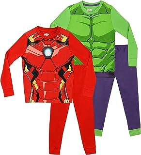 Marvel Pigiama per Ragazzi 2 Pacchi Avengers