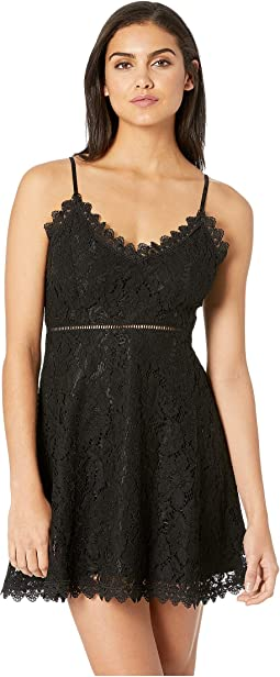 The Music Lace Dress with Novelty Trim