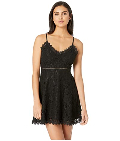 Jack by BB Dakota The Music Lace Dress with Novelty Trim (Black) Women