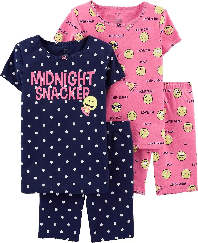 Carter's Girls' 4-Piece Snug Fit Cotton PJS