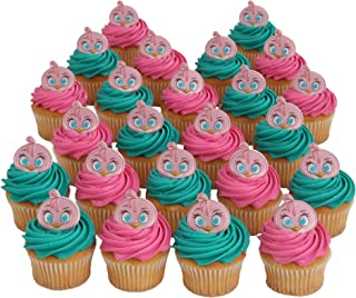 Bakery Crafts Angry Birds Stella Officially Licensed 24 Cupcake Topper Rings