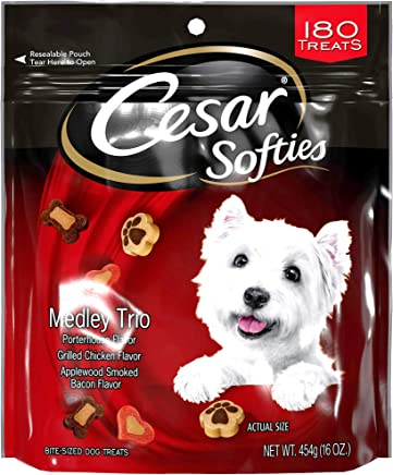 3 Bags of Cesar Softies Medley Trio Porterhouse Flavor, Grilled Chicken Flavor, Applewood Smoked