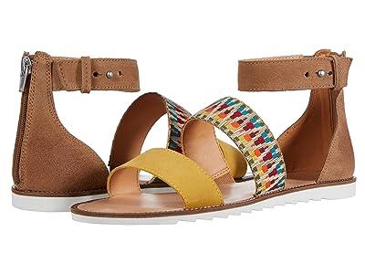 FRYE AND CO. Port 2 Band Sandal (Rainbow Multi Suede/Multi Zig Webbing) Women