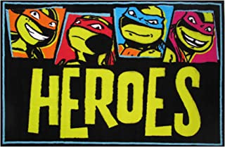Fun Rugs Teenage Mutant Ninja Turtles Area Rug, Heroes, 19 x 29