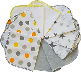 20 x 20 cm kbA GOTS zertifiziert 6er-Set Natur Bio Baby Waschlappen Moltont/üche aus 100/% Bio-Baumwolle