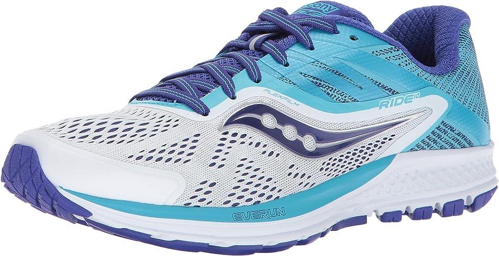 Saucony Wohommes Ride 10 FonctionneHommest-chaussures, blanc bleu, 5 Medium US
