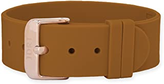 JDRT Watch Strap - Brown Silicone / Rose Gold Buckle