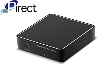 4K HDMI Splitter, HDMI 2.0 1x2 Splitter for 4k x 2K (60Hz) & 3D Support (One Input to Two Outputs) - Pirect Orion-HS3