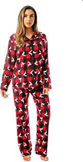 Printed Flannel Button Front PJ Pant Set