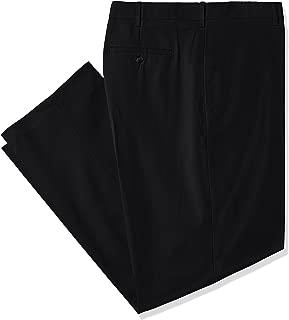 Savane Men's Big and Tall Big & Tall Flat Front Stretch Crosshatch Dress Pant