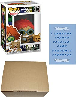 Funko Cowboy Bebop Ed and EIN Pop! Vinyl Figure Bundle with 1 Cartoon Themed Trading Card & 1 Cardboard Protector Box
