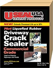 Useal USA Hot Liquefied Rubber, Driveway Crack Sealer, 40 Ft #68118 (40 Ft)