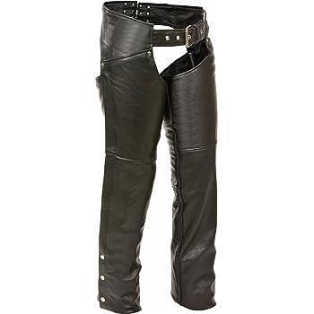 Milwaukee Leather ML1173-2XS-BLACK Milwaukee Womens Leather Chaps Black 2X-Small