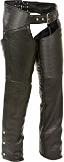 Milwaukee Women's Leather Chaps (Black, 5X-Large)