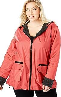 81433888fd0 Roamans Women s Plus Size Hooded Nylon Jacket with Fleece Lining