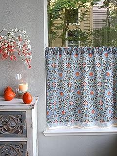 orange moroccan tiles