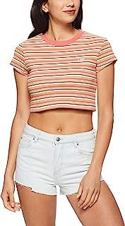 Lee Women's Crop Stripe Skinny Tee