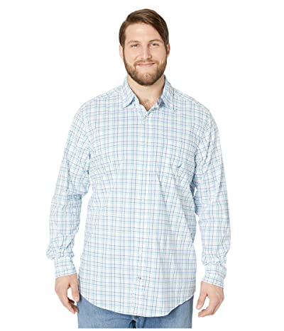 Nautica Big & Tall Big Tall Casual Plaid Woven (Blue) Men