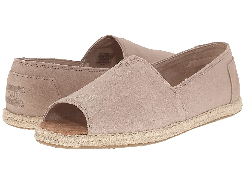 TOMS Alpargata Open Toe (Stucco Suede) Women