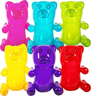 """Kangaroo's HUGE 24"""" Inflatable Gummy Bears (6-Pack); Girls Party Favors; Party Decor! Fun Colors"""