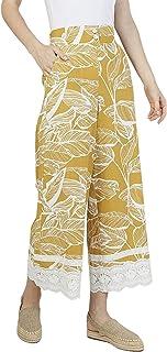 Iconic Women's 2091065 SS23TROPSKT Asymmetric Woven Skirt, Yellow