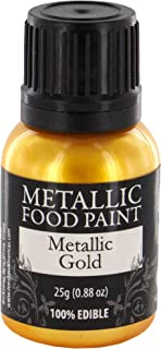 Rainbow Dust Metallic Gold Food Paint, Net Wt 25g(0.88oz)