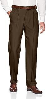 Men's Premium Comfort Classic Fit Pleat Expandable Waist Pant