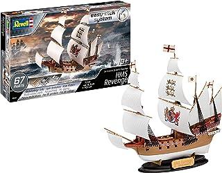 Revell Easy Click System 05661 Bateau à Construire HMS Revenge, échelle 1/350 Maquette, Clair