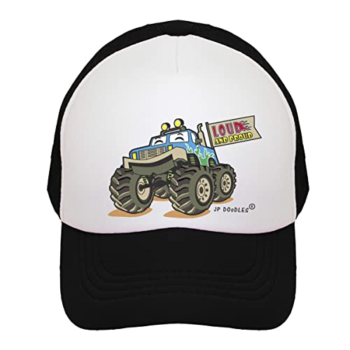a977a85f595ac JP DOoDLES Monster Truck on Kids Trucker Hat. Available in Baby