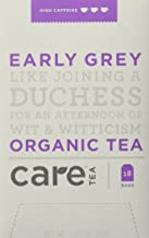 Care Tea Early Grey, 18 Count Box of Tea Bags (Pack of 6) Black Tea (Packaging May Vary)