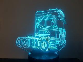 SCANIA TOPLINER (2), Lampada illusione 3D con LED - 7 colori.
