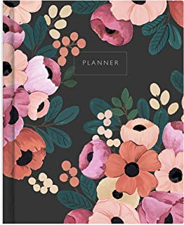 The Ink Bucket - Undated Verona Blush Planner Diary | Botanical Illustrations | Vision Board, Habit Tracker, Thoughtful Pr...