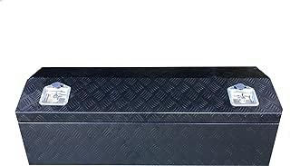 Brait BR44B Aluminum Truck Pickup tool Box ATV Trailer Garage Storage Top-Side Open, Black
