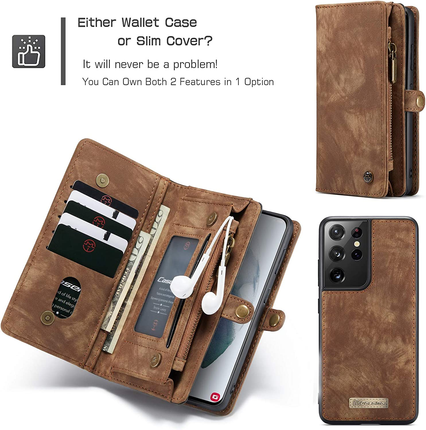 WintMing Compatible with Samsung Galaxy S21 Wallet Case with Card ...
