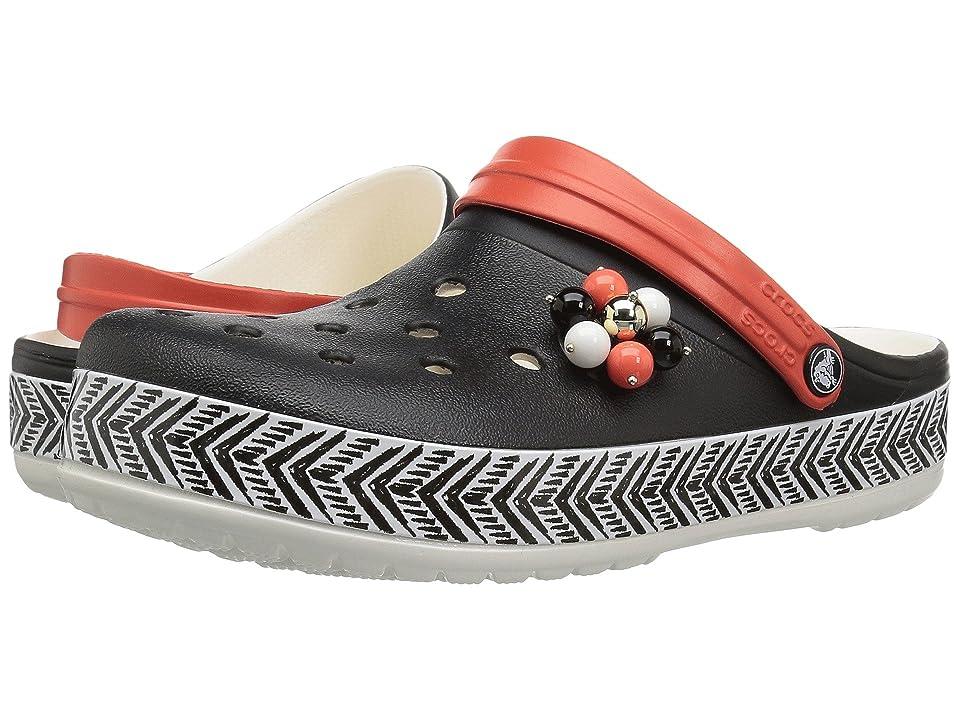 Crocs Drew x Crocs Crocband Chevron Clog (Black/White) Women
