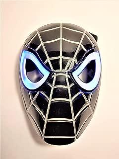 Premium Black Spiderman Mask / Venom Mask with LED Eyes That Light Up! (Batteries Included)