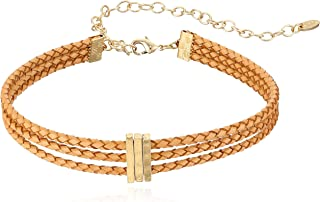 Ettika Riley Rope in Tan and Gold Choker Necklace