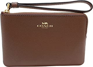 Coach Crossgrain Leather Corner Zip Wristlet