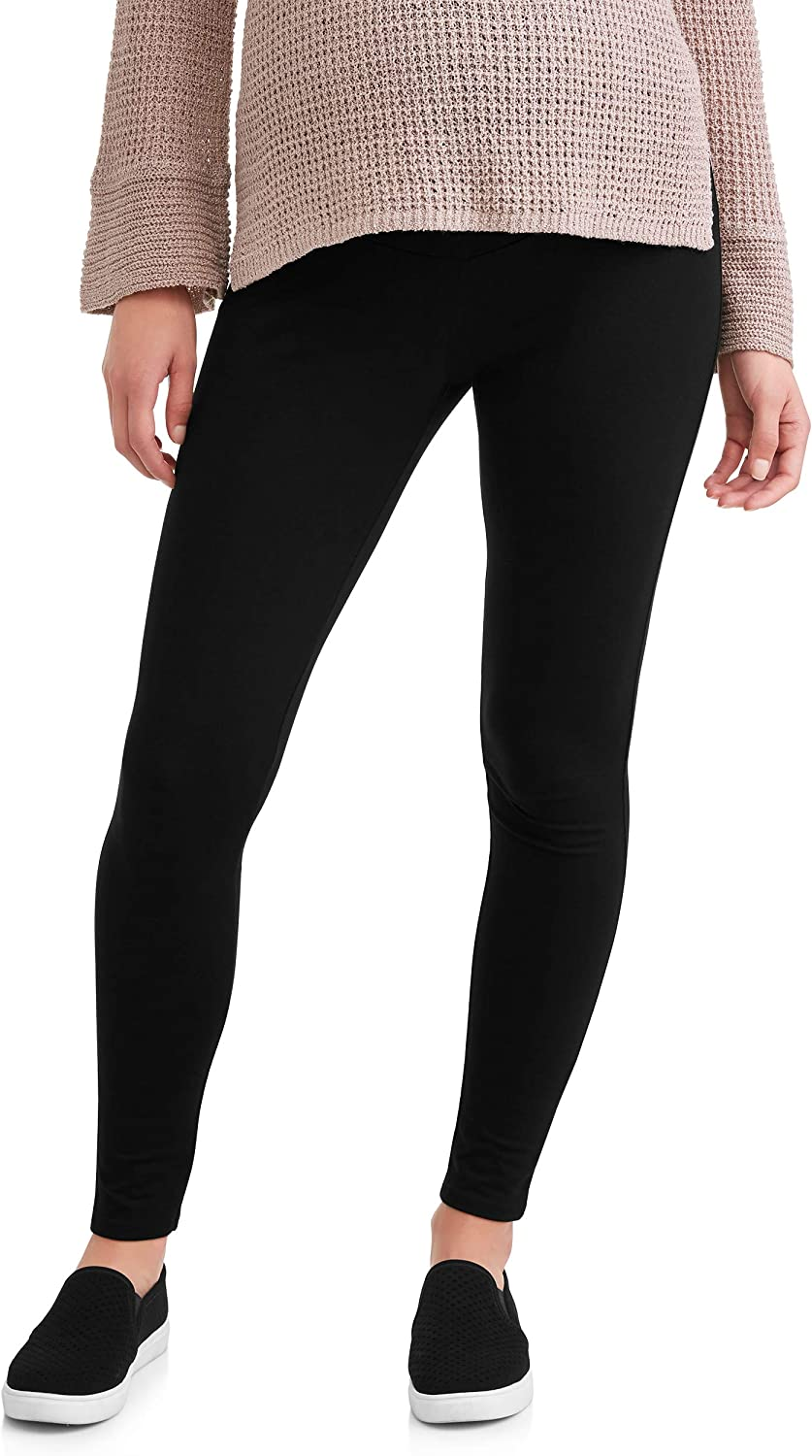 Time and Tru Black Soot Maternity Ankle Legging