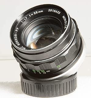 Minolta MC Rokkor-PF 55mm f/1.7 Prime Lens w/ Both Caps. (V2725)