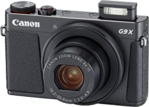 Canon PowerShot G9 X Mark II Compact Digital Camera w/1 Inch Sensor 3inch LCD - Wi-Fi, NFC, Bluetooth Enabled (Black) (Renewed)