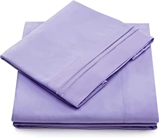 King Size Bed Sheets - Lavender Luxury Sheet Set - Deep Pocket - Super Soft Hotel Bedding - Cool & Wrinkle Free - 1 Fitted, 1 Flat, 2 Pillow Cases - Light Purple King Sheets - 4 Piece