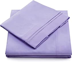 Queen Size Bed Sheets - Lavender Luxury Sheet Set - Deep Pocket - Super Soft Hotel Bedding - Cool & Wrinkle Free - 1 Fitted, 1 Flat, 2 Pillow Cases - Light Purple Queen Sheets - 4 Piece