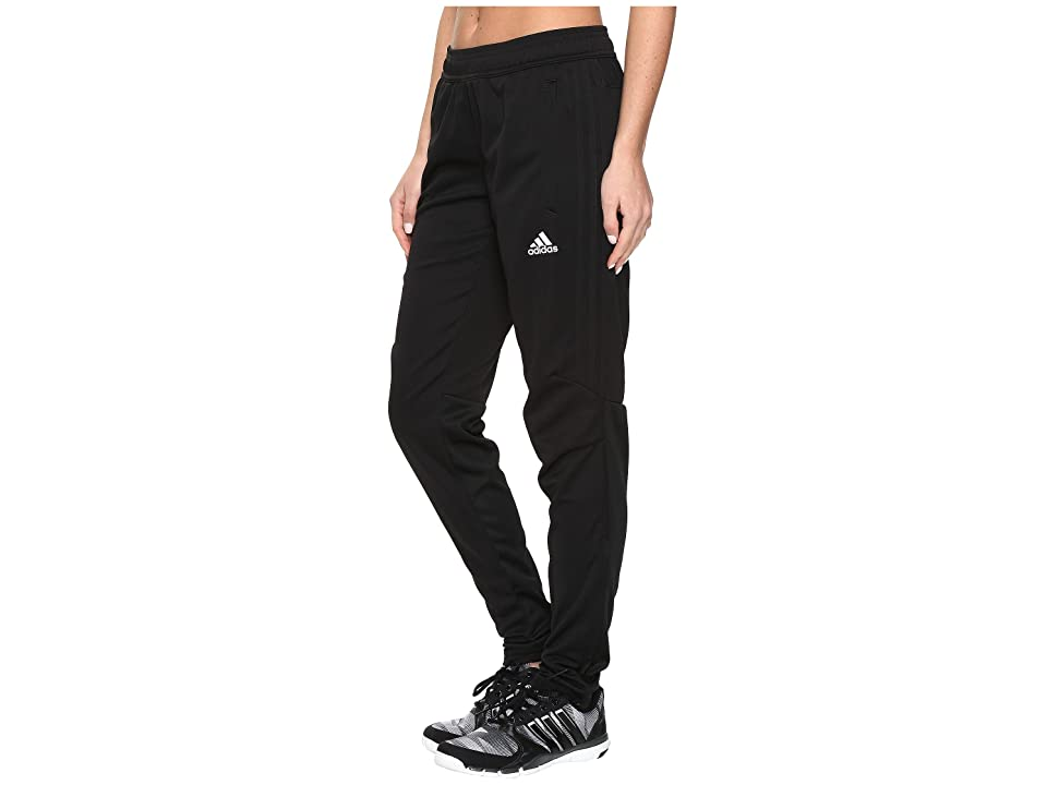 adidas Tiro '17 Pants (Black/White/Black) Women's Workout