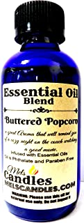 Mels Candles & More Buttered Popcorn 4oz / 118.29 ml Glass Bottle of Premium Grade A Quality Essential Oil Blend/Fragrance Oil, Skin Safe Oil