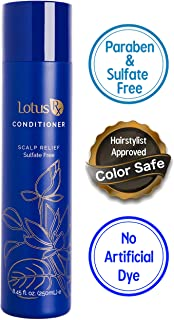 All Natural Anti Dandruff Conditioner by Lotus Rx | Sulfate Free | Includes Pyrithione Zinc & Organic Essential Oils | Helps with Psoriasis, Dry Scalp, is Safe for Color Treated Hair | 8.45 Ounces