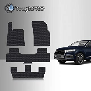 TOUGHPRO Floor Mat Accessories Compatible with Audi Q7 - All Weather - Heavy Duty - (Made in USA) - Black Rubber - 2017, 2018, 2019, 2020, 2021 (1st + 2nd + 3rd Row)
